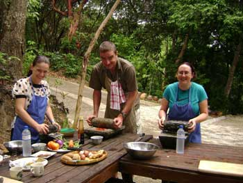Students in my cooking class preparing nasi kandar