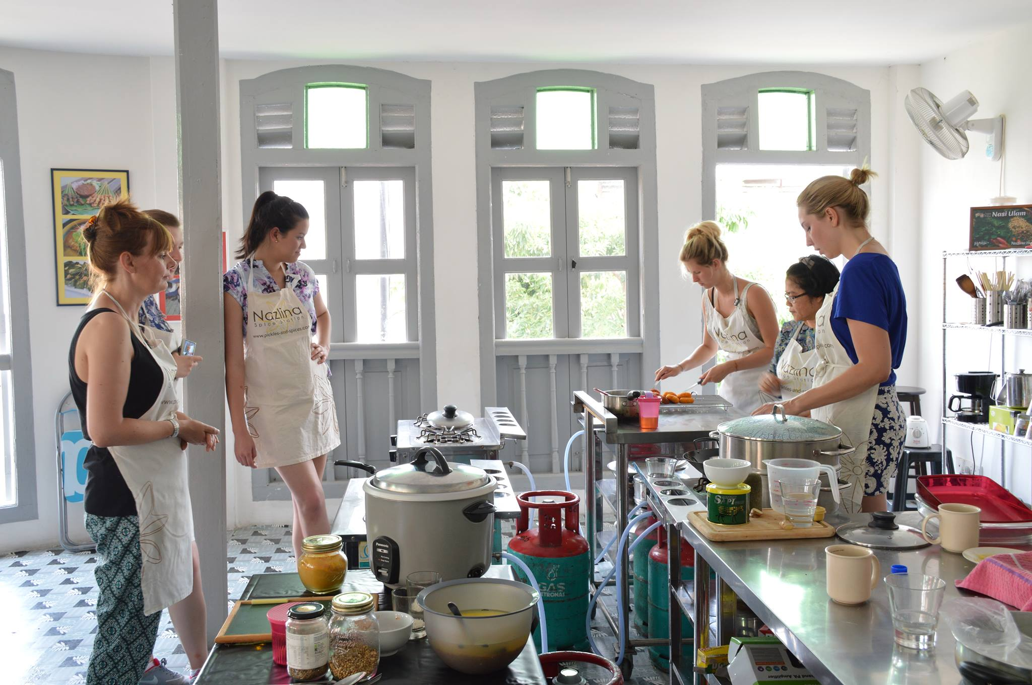 My students in the cooking class