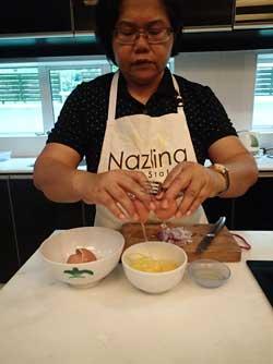 Preparing eggs