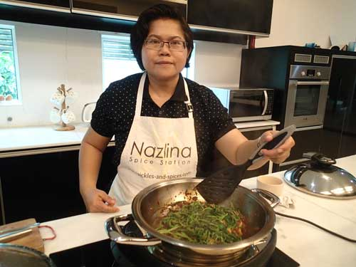 Kangkung dish ready