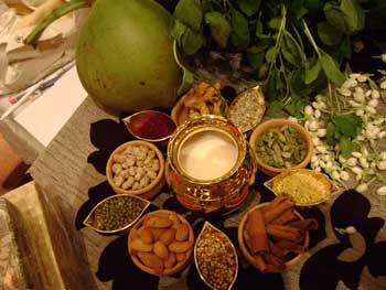 Usage of spices, a selection of spices