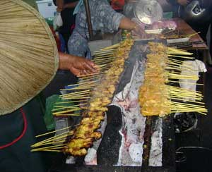 BBQ satay at Pasar Malam (Night Market)