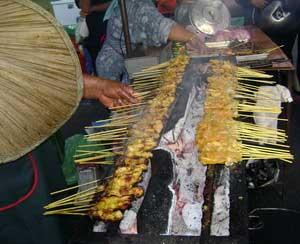 BBQ satay at Pasar Malam (Night Market)