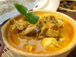 chicken curry with kaffir lime leaves