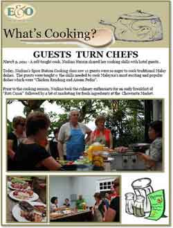 Unique Cooking Class in E&O Hotel