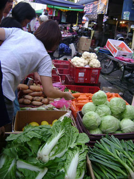 vegetables seller as seen during Penang Market tour