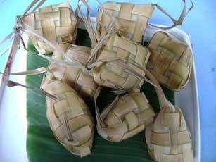 ketupat nasi (cooked)