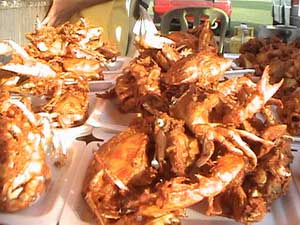 fried crabs in batter