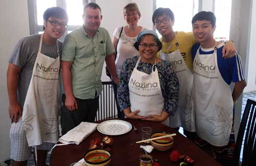 One of the many cooking classes at Nazlina Spice Station