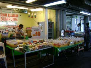 A pickles stall owned by a Malay trader at George Town Ferry Terminal