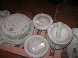Old stone kitchen tools