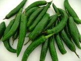fresh green chilies