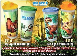 ice age 3 tumblers