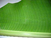 Inside of banana leaf
