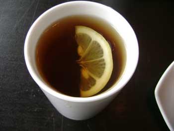 Ginger ney drink - lemon tea