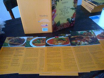 Malay recipe cards by Nazlina Spice Station