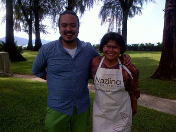Nazlina with Adam Liaw