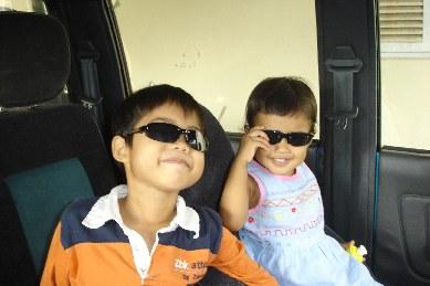 My children - Johan and Johanna