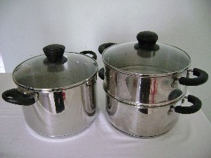 Stainless steel stockpot and steamer