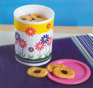floral one touch canister